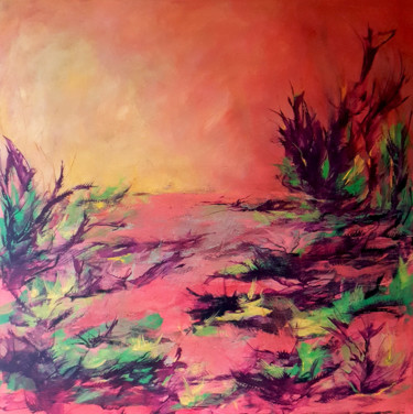 """Painting titled """"I dare you"""" by Iulia Paun, Original Art, Acrylic Mounted on Stretcher frame"""