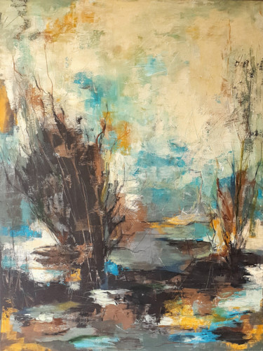 """Painting titled """"Holiday mood no. 1"""" by Iulia Paun, Original Art, Acrylic Mounted on Stretcher frame"""
