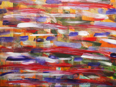 """Painting titled """"Waves"""" by Ivana Pelouchová (IVANEL), Original Art, Acrylic"""