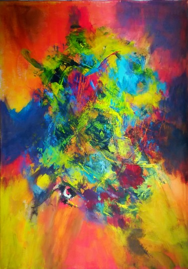Abstract Painting, acrylic, abstract, artwork by Is