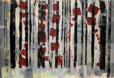 """Painting titled """"72 (It's Curtains)"""" by J.Kesin, Original Art, Acrylic Mounted on Stretcher frame"""