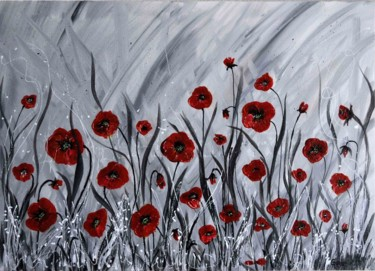 """Painting titled """"COQUELICOTS"""" by Jackie Godenir, Original Art, Acrylic"""