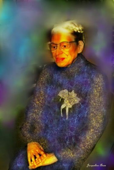 """Painting titled """"Rosa Parks"""" by Jacqueline Amos, Original Art,"""