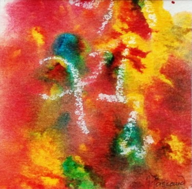 """Painting titled """"Monotype 1"""" by Jacqueline Pascaud, Original Art, Ink Mounted on Other rigid panel"""