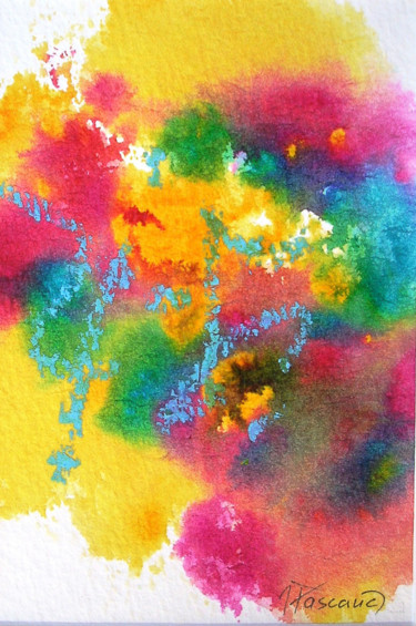 """Painting titled """"Monotype 7"""" by Jacqueline Pascaud, Original Art, Ink Mounted on Other rigid panel"""
