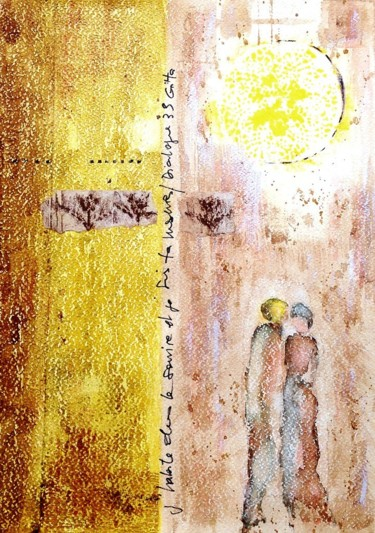 Spirituality Painting, watercolor, figurative, artwork by Jacqueline Pascaud