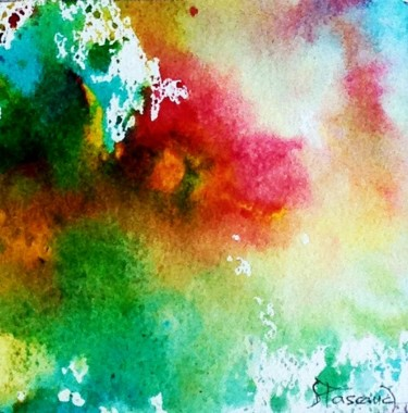 """Painting titled """"Monotype 8"""" by Jacqueline Pascaud, Original Art, Ink Mounted on Other rigid panel"""