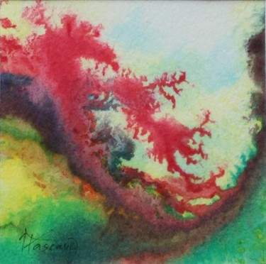 """Painting titled """"Monotype 9"""" by Jacqueline Pascaud, Original Art, Ink Mounted on Other rigid panel"""