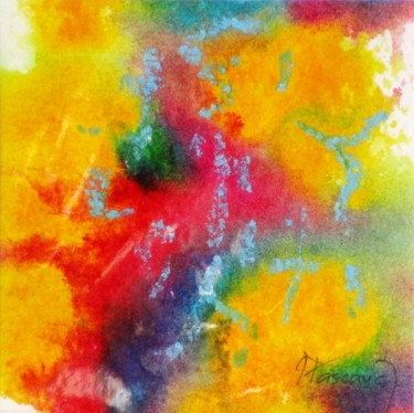 """Painting titled """"Monotype 10"""" by Jacqueline Pascaud, Original Art, Ink Mounted on Other rigid panel"""