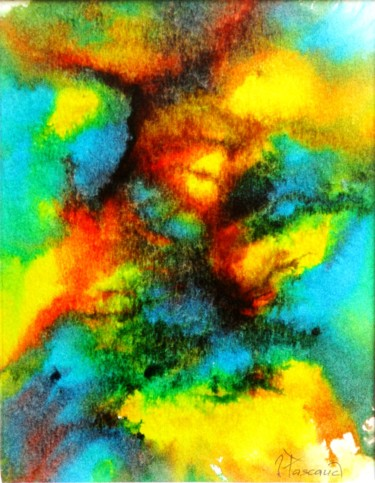 """Painting titled """"Monotype 11"""" by Jacqueline Pascaud, Original Art, Ink Mounted on Other rigid panel"""