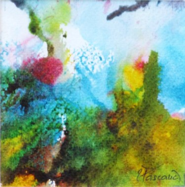 """Painting titled """"Monotype 13"""" by Jacqueline Pascaud, Original Art, Ink Mounted on Other rigid panel"""
