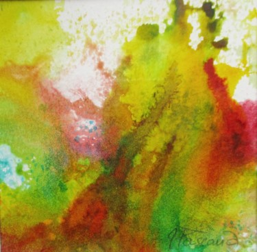 """Painting titled """"Monotype 14"""" by Jacqueline Pascaud, Original Art, Ink Mounted on Other rigid panel"""