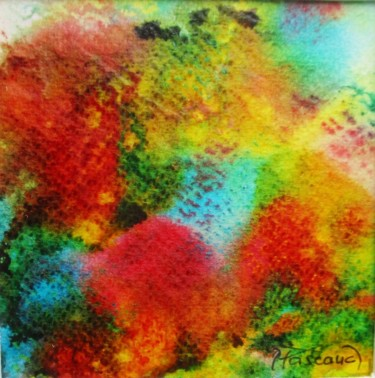 """Painting titled """"Monotype 15"""" by Jacqueline Pascaud, Original Art, Ink Mounted on Other rigid panel"""