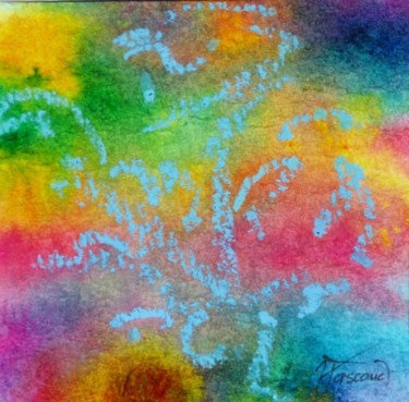 """Painting titled """"Monotype 16"""" by Jacqueline Pascaud, Original Art, Ink Mounted on Other rigid panel"""