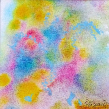 """Painting titled """"Monotype 20"""" by Jacqueline Pascaud, Original Art, Ink Mounted on Other rigid panel"""