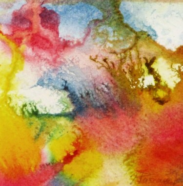 """Painting titled """"Monotype 21"""" by Jacqueline Pascaud, Original Art, Ink Mounted on Other rigid panel"""