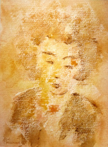 """Painting titled """"Aquarelle 8"""" by Jacqueline Pascaud, Original Art, Watercolor Mounted on Other rigid panel"""