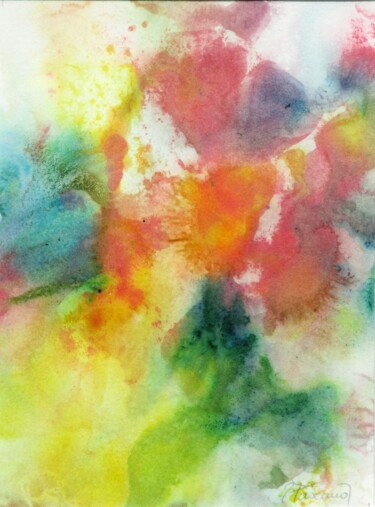 """Painting titled """"Monotype 28"""" by Jacqueline Pascaud, Original Art, Ink Mounted on Other rigid panel"""