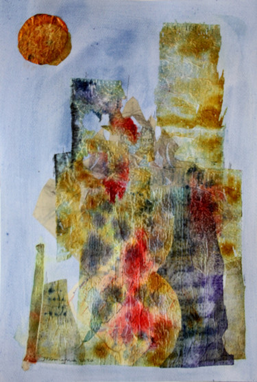 """Collages titled """"Castle and Sun"""" by Jamaleddin Toomajnia, Original Art, Collages"""