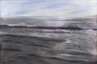 """Painting titled """"Wave Tufts"""" by James Potter, Original Art, Oil"""