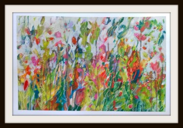 """Painting titled """"A Summer Meadow"""" by Jan Rippingham, Original Art, Acrylic"""