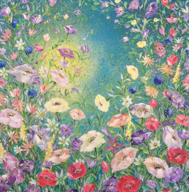 """Painting titled """"Anemone and Other F…"""" by Jan Rogers, Original Art, Acrylic"""