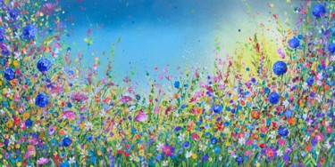 """Painting titled """"Wild Wild Meadow wi…"""" by Jan Rogers, Original Art, Acrylic"""