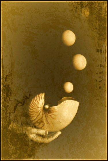 """Photography titled """"Birth of the moon."""" by Jan Schrijver, Original Art, Manipulated Photography"""