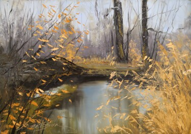"""Painting titled """"In the autumn fores…"""" by Jane Lantsman, Original Art, Oil"""