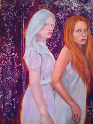 """Painting titled """"The others"""" by Jane Lantsman, Original Art, Oil"""