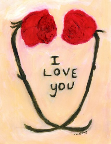 """Painting titled """"Valentine 2021"""" by Janel Bragg, Original Art, Watercolor"""