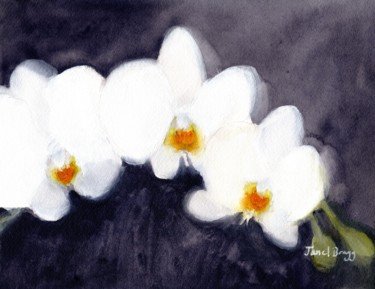 Flower Painting, watercolor, expressionism, artwork by Janel Bragg