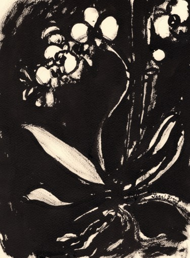 Flower Painting, ink, expressionism, artwork by Janel Bragg