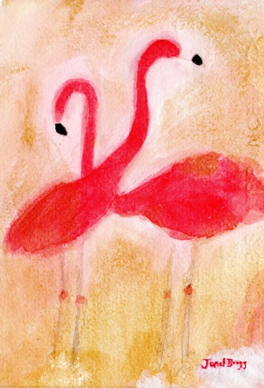 Bird Painting, watercolor, expressionism, artwork by Janel Bragg
