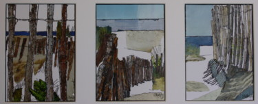 """Painting titled """"The Beach, Sérignan"""" by Janet Daldy, Original Art,"""