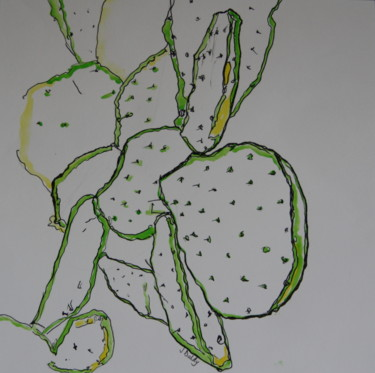 """Painting titled """"Cactus 2"""" by Janet Daldy, Original Art,"""