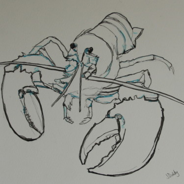 """Painting titled """"Lobster"""" by Janet Daldy, Original Art,"""