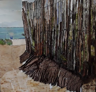 """Painting titled """"Plage, Sérignan"""" by Janet Daldy, Original Art,"""