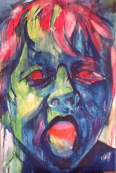 """Painting titled """"Arghhhhhh"""" by Janet Daldy, Original Art, Oil"""