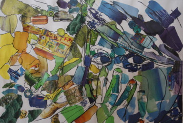 """Collages titled """"Oh"""" by Janet Daldy, Original Art,"""