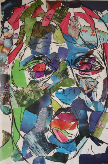 """Collages titled """"Arghhh"""" by Janet Daldy, Original Art,"""