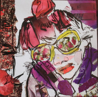 """Collages titled """"purple-hands.jpg"""" by Janet Daldy, Original Art,"""
