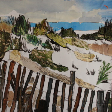 """Collages titled """"les-orpelieres-29cm…"""" by Janet Daldy, Original Art,"""