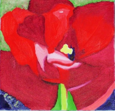 """Painting titled """"Tulip 2"""" by Jan Wall, Original Art, Oil"""