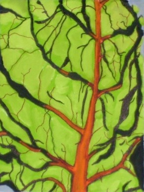 """Painting titled """"Chard"""" by Jan Wall, Original Art, Oil"""
