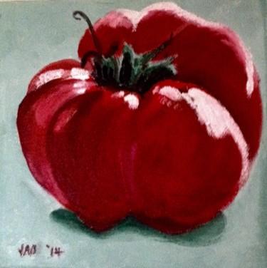 """Painting titled """"Tomato"""" by Jan Wall, Original Art, Oil"""