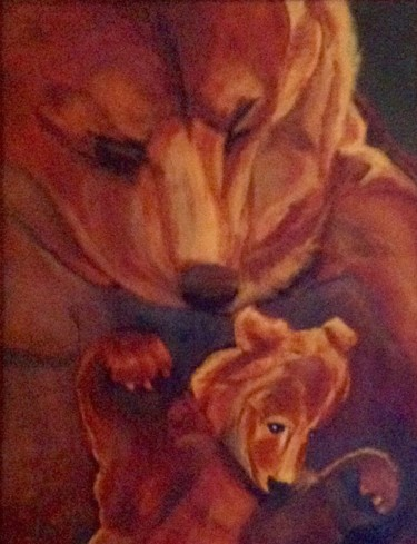 """Painting titled """"The Bears."""" by Jan Wall, Original Art, Oil"""