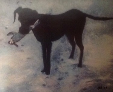 """Painting titled """"Hunter"""" by Jan Wall, Original Art, Oil"""