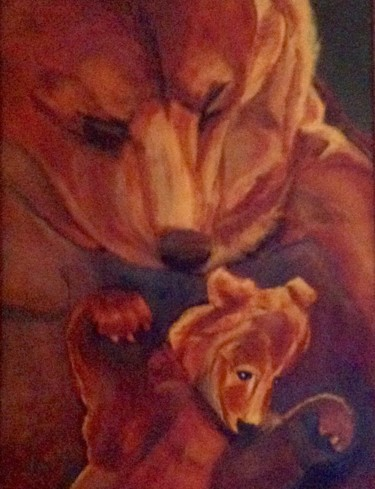 """Painting titled """"The Bears"""" by Jan Wall, Original Art, Oil"""