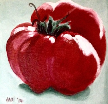"""Painting titled """"Tomato"""" by Jan Wall, Original Art,"""